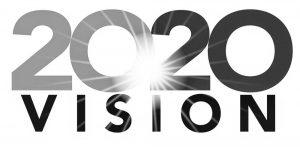 2020 Vision Logo, black and white