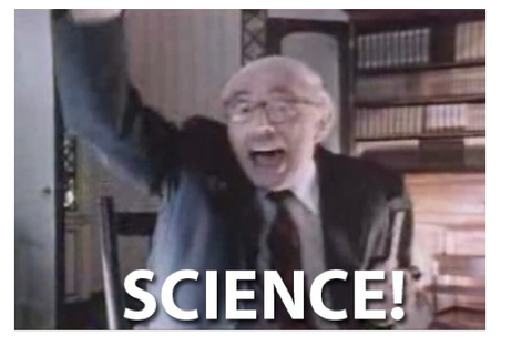 """An Old Professor exclaiming """"Science"""""""