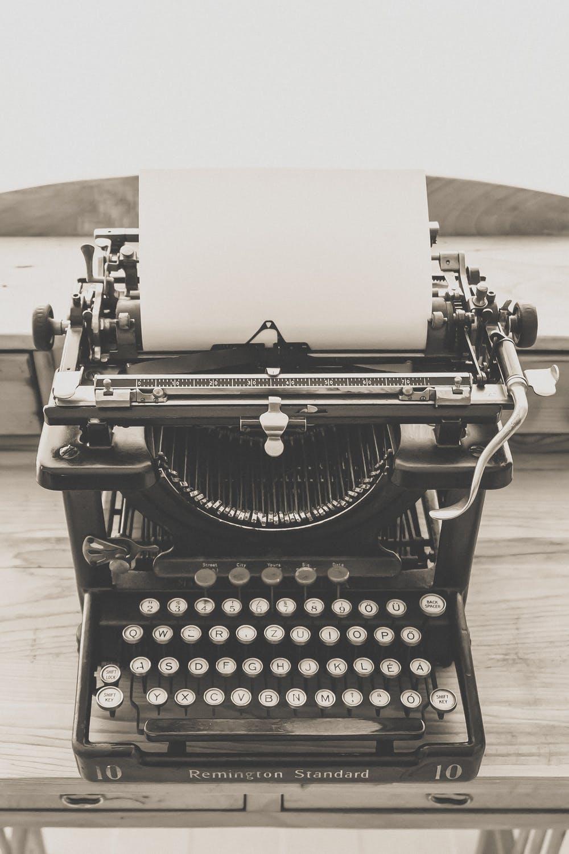 antique, black typewriter